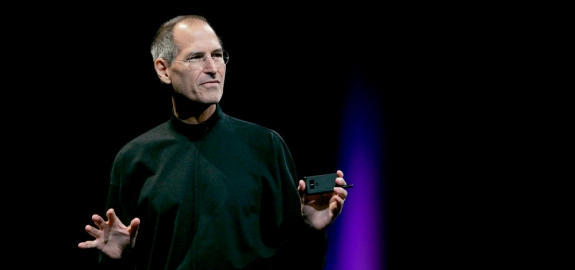James Mitchell/Flickr - The late Steve Jobs delivers his keynote speech at the Apple Worldwide Developers Conference in San Francisco, June 9, 2008.