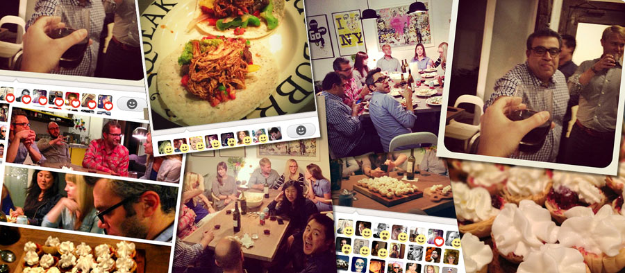 Nick Bilton's dinner party photo collage