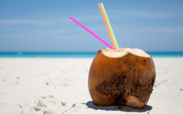 relaxing-time-coconut-chopped-top-three-straws-wide-hd-wallpaper